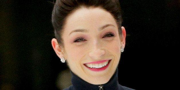 NEW YORK, NY - FEBRUARY 26:  2014 Winter Olympics Ice Dancing gold medalist Meryl Davis rehearses duringÊan Ice Dancing Perfo