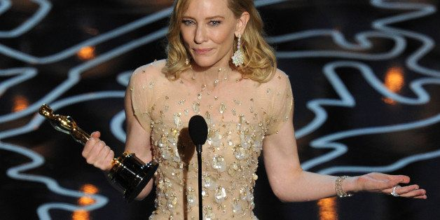 HOLLYWOOD, CA - MARCH 02:  Actress Cate Blanchett accepts the Best Performance by an Actress in a Leading Role award for 'Blu