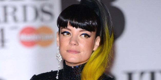 LONDON, ENGLAND - FEBRUARY 19:  Lily Allen attends The BRIT Awards 2014 at 02 Arena on February 19, 2014 in London, England.