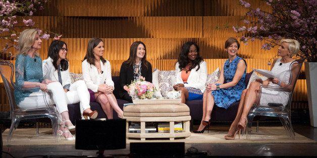 NEW YORK, NY - APRIL 25:  (EXCLUSIVE COVERAGE) (L-R) Arianna Huffington, Tracey Stewart, Alicia Menendez, Randi Zuckerberg, B