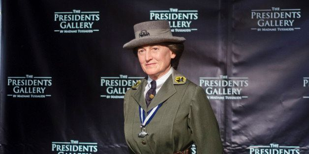 WASHINGTON, DC - MAY 09: A wax Figure of Juliette Gordon Low is unveiled in celebration of the Girl Scouts 100th anniversary
