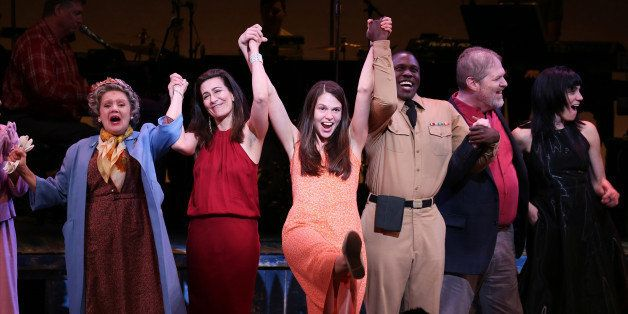 NEW YORK, NY - APRIL 20:  Annie Golden, Jeanine Tesori, Sutton Foster, Joshua Henry, Brian Crawley and Leigh Silverman during