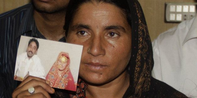 LAHORE, PAKISTAN - MAY 31: Pakistani Khalida Parveen, sister of Farzana Parveen, punished with stone to death by her father a