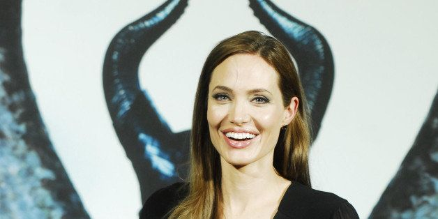 SHANGHAI, CHINA - JUNE 03:  (CHINA OUT) Actress Angelina Jolie attends 'Maleficent' press conference on June 3, 2014 in Shang