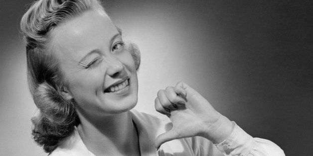 UNITED STATES - CIRCA 1950s:  Young woman winking.  (Photo by George Marks/Retrofile/Getty Images)