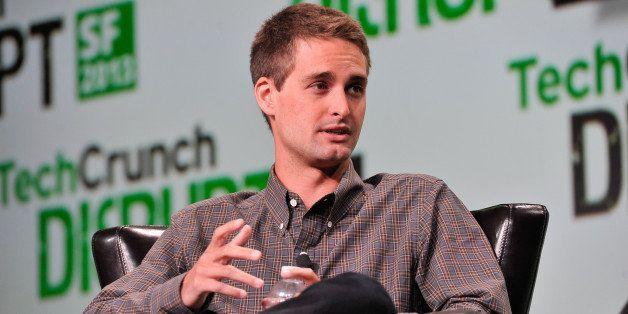 SAN FRANCISCO, CA - SEPTEMBER 09: Evan Spiegel of Snapchat attends TechCruch Disrupt SF 2013 at San Francisco Design Center o