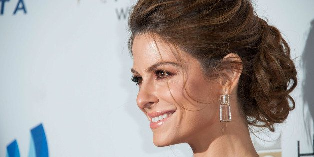 BEVERLY HILLS, CA - APRIL 12:  TV Personnality Maria Menounos arrives at the 25th Annual GLAAD Media Awards at The Beverly Hi
