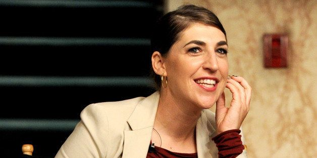 BURBANK, CA - AUGUST 15:  Actress Mayim Bialik appears on the set of 'The Big Bang Theory' for a dialogue with members of The