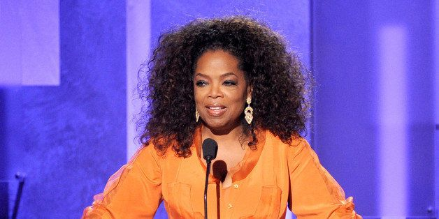 PASADENA, CA - FEBRUARY 22:  Oprah Winfrey speaks onstage during the 45th NAACP Image Awards presented by TV One at Pasadena