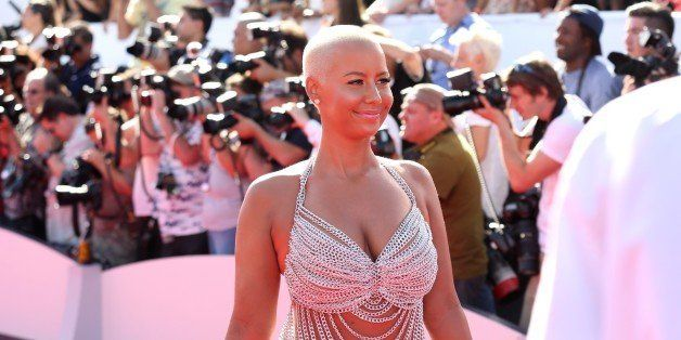 Amber Rose arrives at the MTV Video Music Awards at The Forum on Sunday, Aug. 24, 2014, in Inglewood, Calif. (Photo by Matt S