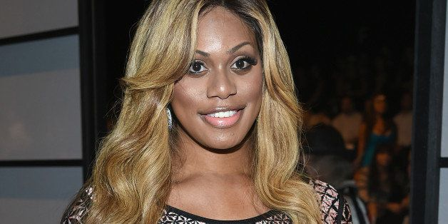 NEW YORK, NY - SEPTEMBER 06:  Laverne Cox attends Herve Leger By Max Azria during Mercedes-Benz Fashion Week Spring 2015 at T