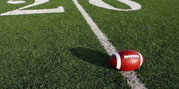 american football near the...
