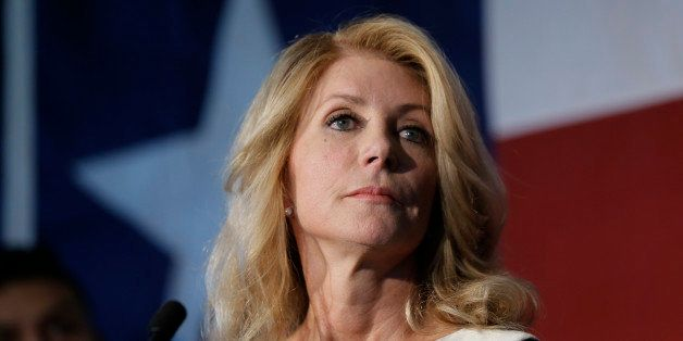 Texas democratic gubernatorial candidate Wendy Davis presents her new education policy during a stop at Palo Alto College, Tu