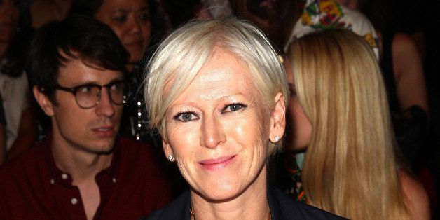 NEW YORK, NY - SEPTEMBER 04:   Joanna Coles, Editor In Chief of Cosmopolitan, attends the Marissa Webb fashion show with TRES
