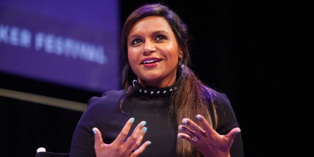 NEW YORK, NY - OCTOBER 11:  Mindy Kaling participates in a conversation with New Yorker television critic Emily Nussbaum duri