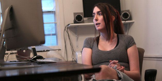 ARLINGTON, MA - OCTOBER 21: Brianna Wu, software engineer and the found of Giant Spacekat, which makes games with female prot