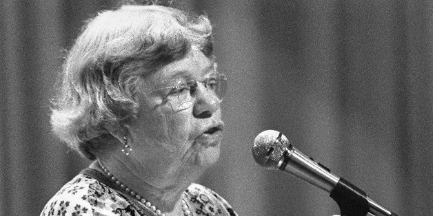 FILE PHOTO:Margaret Mead, anthropologist speaks to students in Miami January 6th, 1976. (photo by Tim Chapman)
