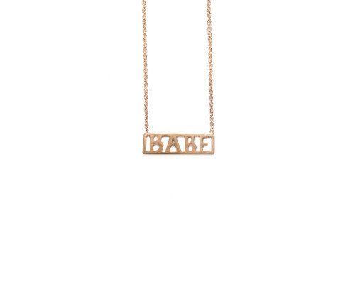 "<a href=""http://www.windenjewelry.com/necklaces/babe-necklace"" target=""_blank"">""Babe""</a> necklace, $77, Winden Jewelry"
