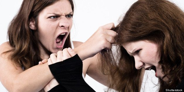 Girl cat fight girl on Catfight between