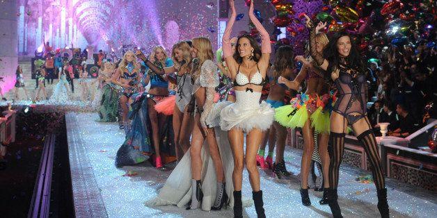 Models walk the runway during the Victoria's Secret fashion show in New York, Wednesday, Nov. 9, 2011. (AP Photo/Brad Barket)
