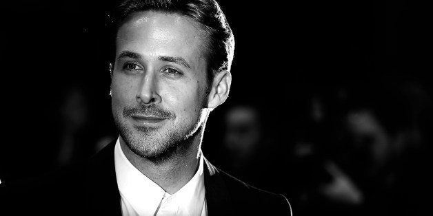 BLACK AND WHITE VERSION Canadian actor Ryan Gosling poses as he arrives for the screening of the film 'Lost River' at the 67
