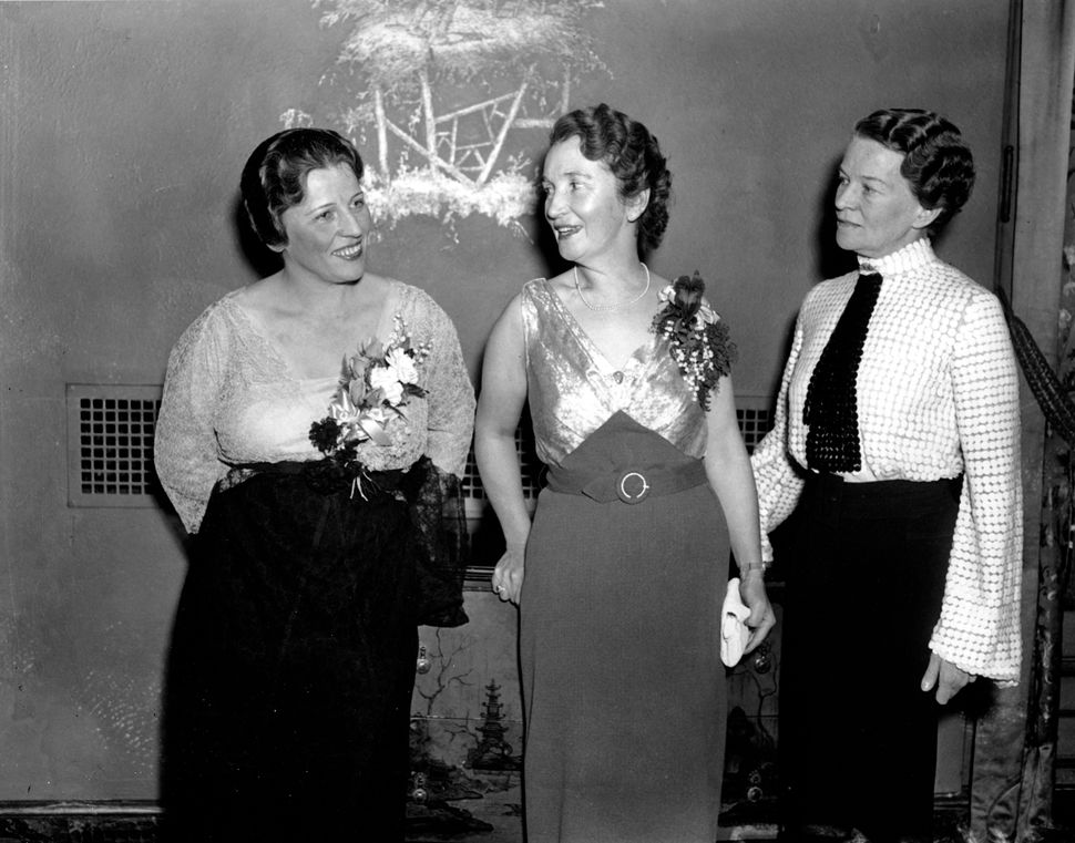 <strong>1935:</strong> Women's rights activists Margaret Sanger, center, Pearl Buck, author, and Katharine Martha Houghton He