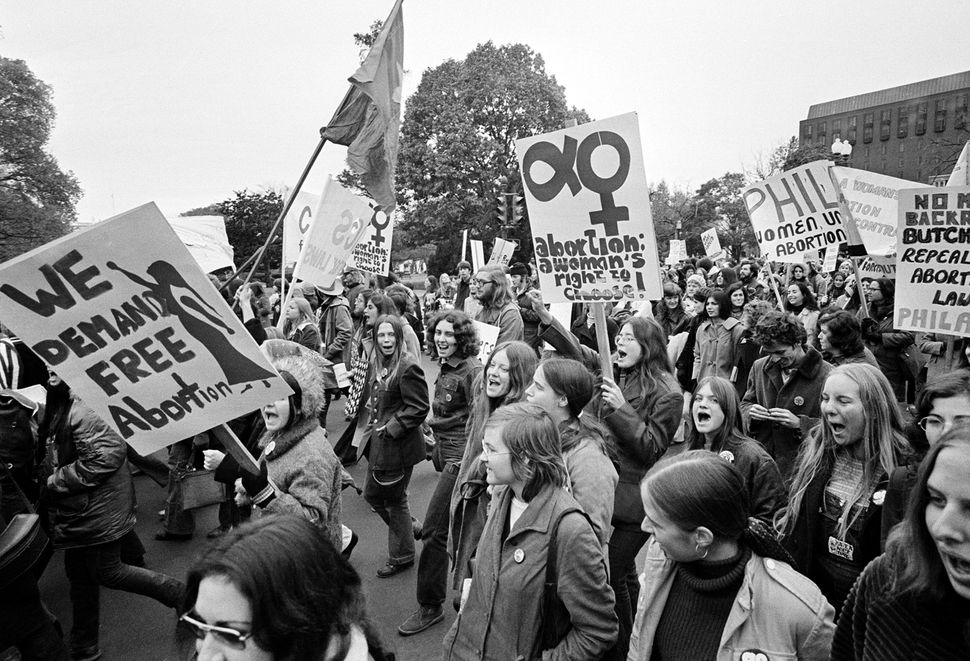 <strong>1971:</strong> Demonstrators demanding a woman's right to choose march to the U.S. Capitol for a rally seeking repeal