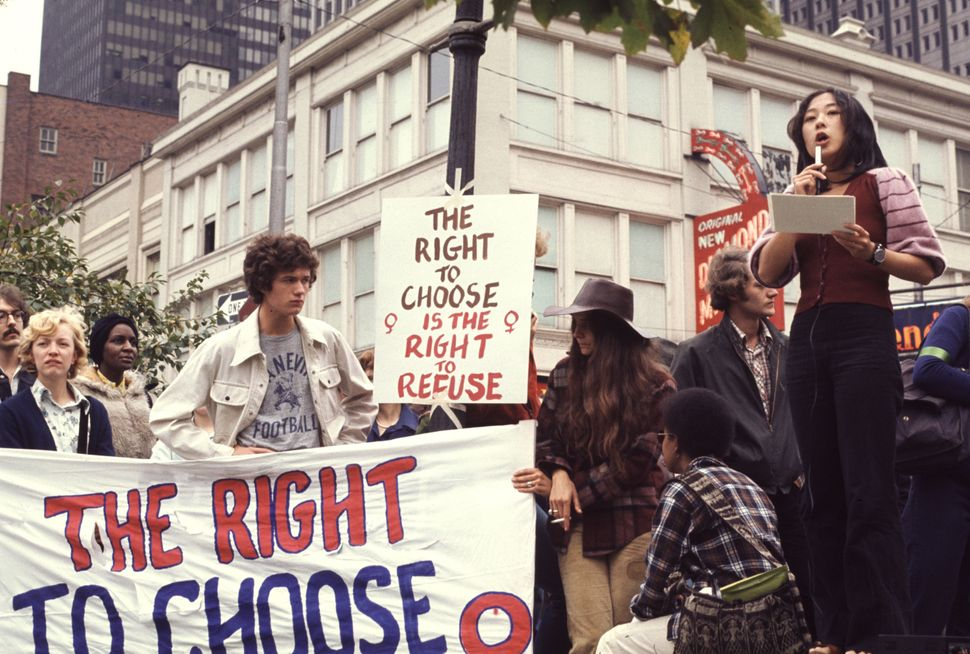 <strong>1974:</strong> A reproductive rights demonstration, Pittsburgh, PA, 1974. (Photo by Barbara Freeman/Getty Images)