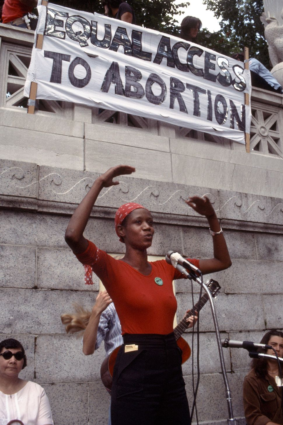 <strong>1977:</strong> View of a pro-abortion rights rally against the Hyde Amendment, in Boston Common, Boston, Massachusett