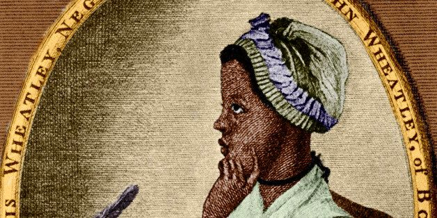 Phillis Wheatley - African/ American poet: 1753 – 5 December 1784. As illustrated by Scipio Moorhead on the front page of he