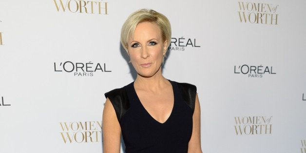 Mika Brzezinski arrives at the Ninth Annual Women of Worth Awards hosted by L'Oreal Paris at The Pierre hotel on Tuesday, Dec