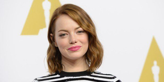Actress Emma Stone arrives for the Oscars Nominees' Luncheon hosted by the Academy of Motion Picture Arts and Sciences, Febru