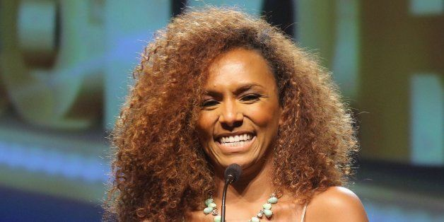 BEVERLY HILLS, CA - SEPTEMBER 21:  Founder of #GIRLSLIKEUS Janet Mock speaks on stage at the ADCOLOR Awards at The Beverly Hi