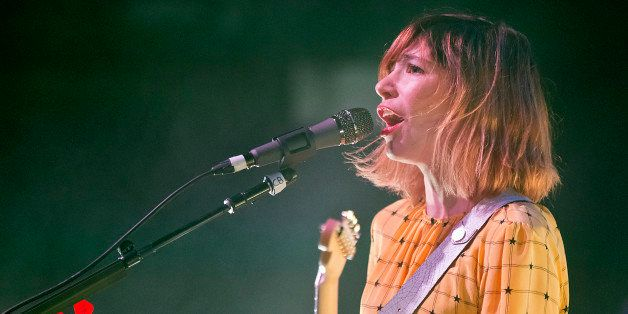 BOSTON - FEBRUARY 22: Carrie Brownstein with her band Sleater-Kinney performing live in concert at the House of Blues on Sund