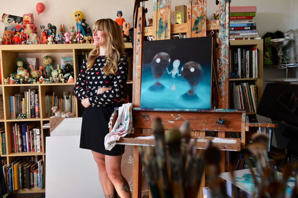 Portrait of American artist and illustrator Tara McPherson in her studio in New York, on Aug. 24, 2013. (Joby Sessions/Comput