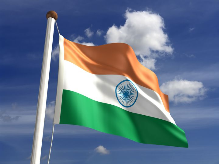 india flag  with clipping path