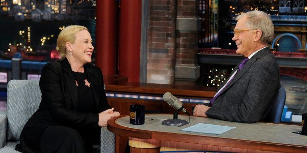 NEW YORK - MARCH 10: Actress Patricia Arquette from the new CBS drama series 'CSI: Cyber' talks to Dave about her new series