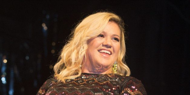 LONDON, UNITED KINGDOM - FEBRUARY 14: Kelly Clarkson performs on stage at G-A-Y on February 14, 2015 in London, England. (Pho