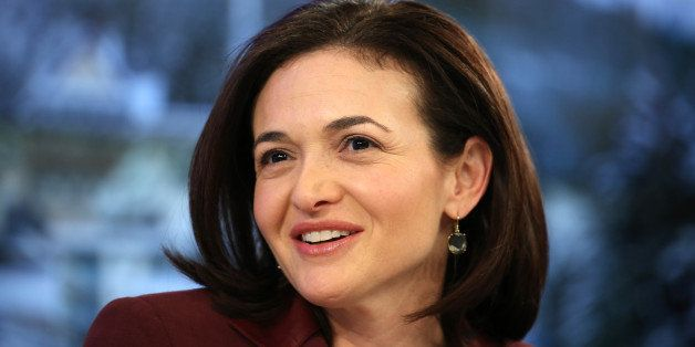 Sheryl Sandberg, billionaire and chief operating officer of Facebook Inc., pauses during a panel session on day four of the W