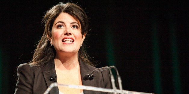 PHILADELPHIA, PA - OCTOBER 20 : Monica Lewinsky speaks to attendees at Forbes Under 30 Summit at the Convention Center in Phi