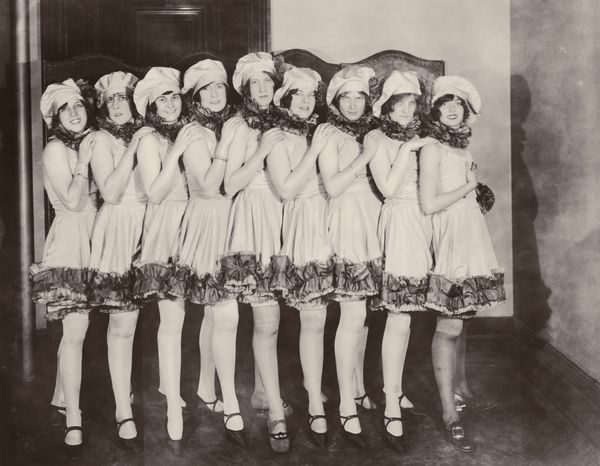 A group of chorus girls at the annual charity reception and dance held by the Ladies' Auxiliary of St Vincent's Hospital at t