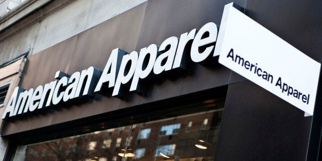 American Apparel Inc. signage is displayed outside of a store in New York, U.S., on Wednesday, April 6, 2011. At the urging o
