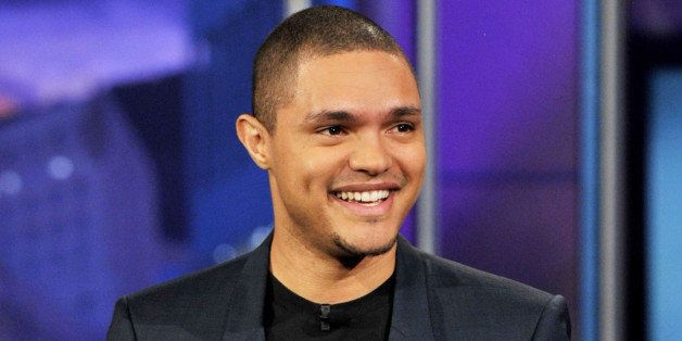 BURBANK, CA - JANUARY 06:  Comedian Trevor Noah performs on the Tonight Show With Jay Leno at NBC Studios on January 6, 2012