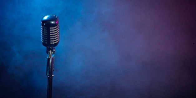 microphone with smoke