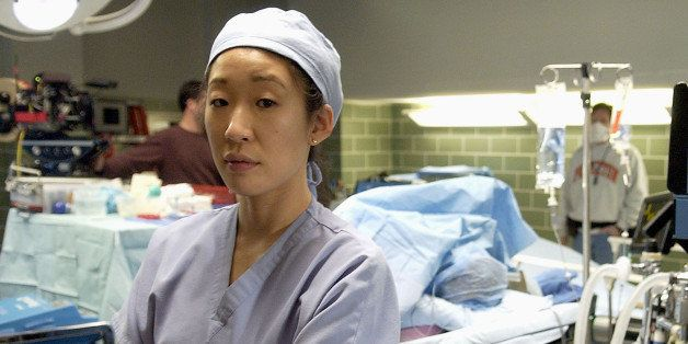 """Actress Sandra Oh poses for a portrait on the set of ABC's new medical drama """"Grey's Anatomy,"""" Wednesday, Feb. 23, 2005, in L"""