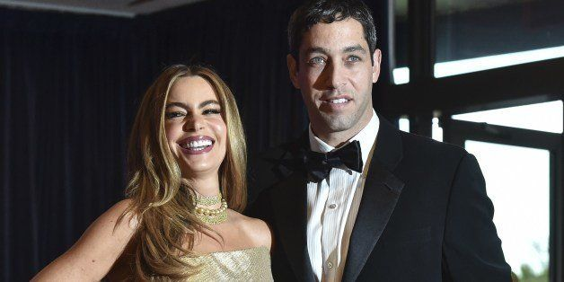 Sofia Vergara and Nick Loeb arrive at the White House Correspondents' Association (WHCA) annual dinner in Washington on May 3