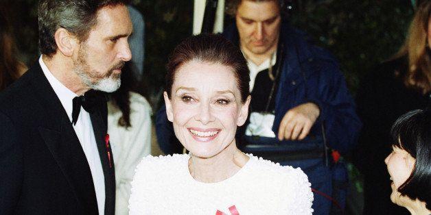 Audrey Hepburn is pictured, April 1992. (AP Photo/Alex Brandon)