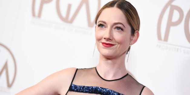 Judy Greer arrives at the 26th Annual Producers Guild Awards on Saturday, Jan. 24, 2015, in Los Angeles. (Photo by Richard Sh