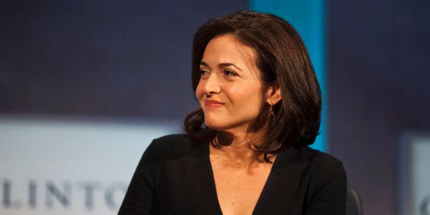 NEW YORK, NY - SEPTEMBER 24: Sheryl Sandberg, COO of Facebook during a panel discussion at the Clinton Global Initiative (CGI