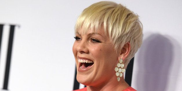 President's award winner Pink arrives at the 63rd annual BMI Pop Awards at the Beverly Wilshire Hotel on Tuesday, May 12, 201
